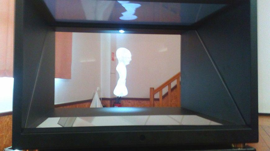 L'un des neuf hologrammes exposés en mairie de Mesnil-Saint-Nicaise