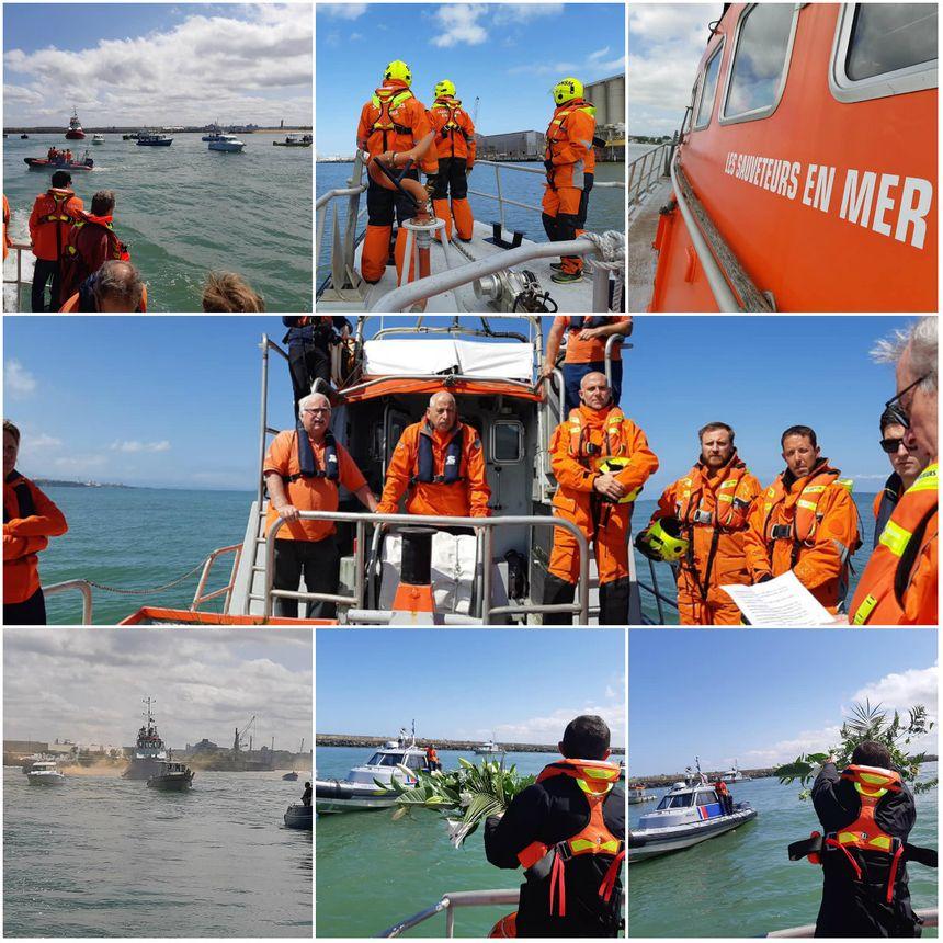 12 des 37 sauveteurs de la SNSM de Bayonne étaient à bord du Capitaine Martin Jorlis pour un dernier hommage aux sauveteurs disparus