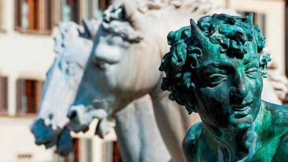 Le diable de la fontaine de Neptune à Florence
