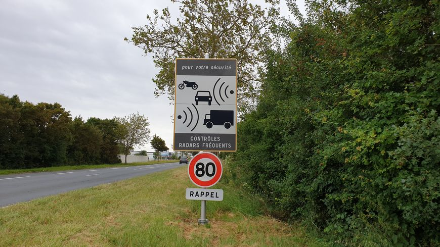 Signalisation du radar tourelle
