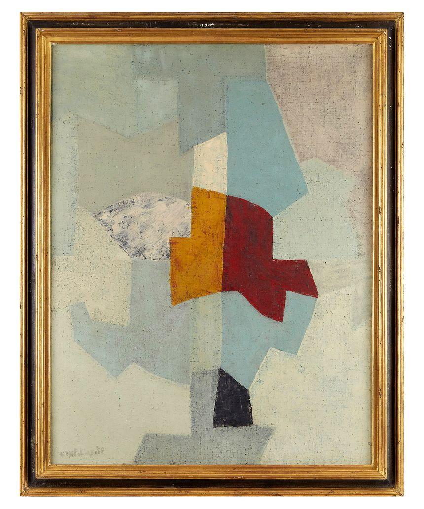 """Le tableau de Serge Poliakoff """"Gris, vert, bleu"""" (1955)"""