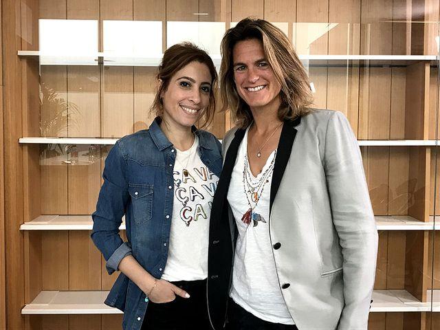 Amélie Mauresmo et Léa Salamé