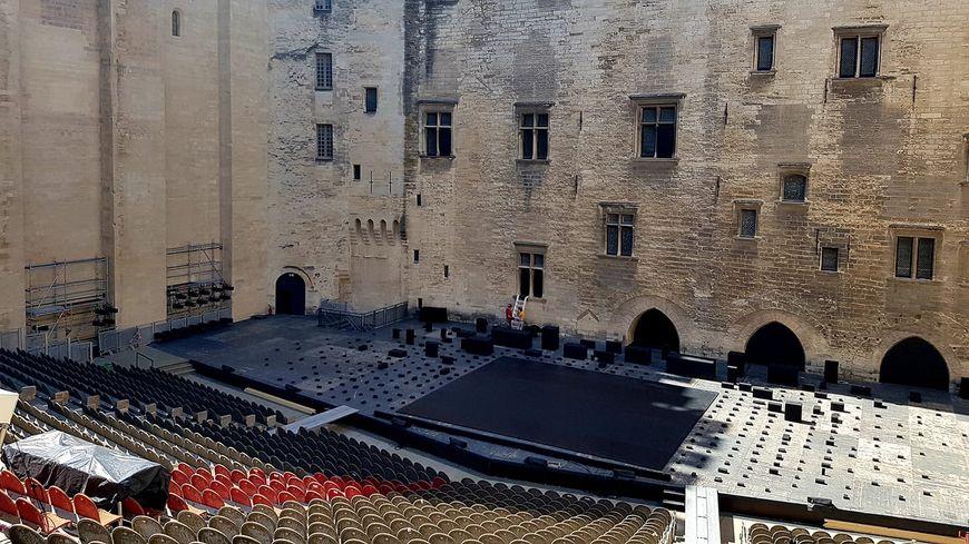 La cour du plais des papes pour le Festival d'Avignon 2019