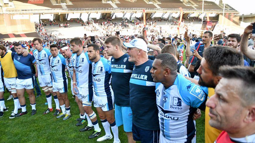 Les Montpelliérains après la défaite à Lyon en barrage de TOP 14