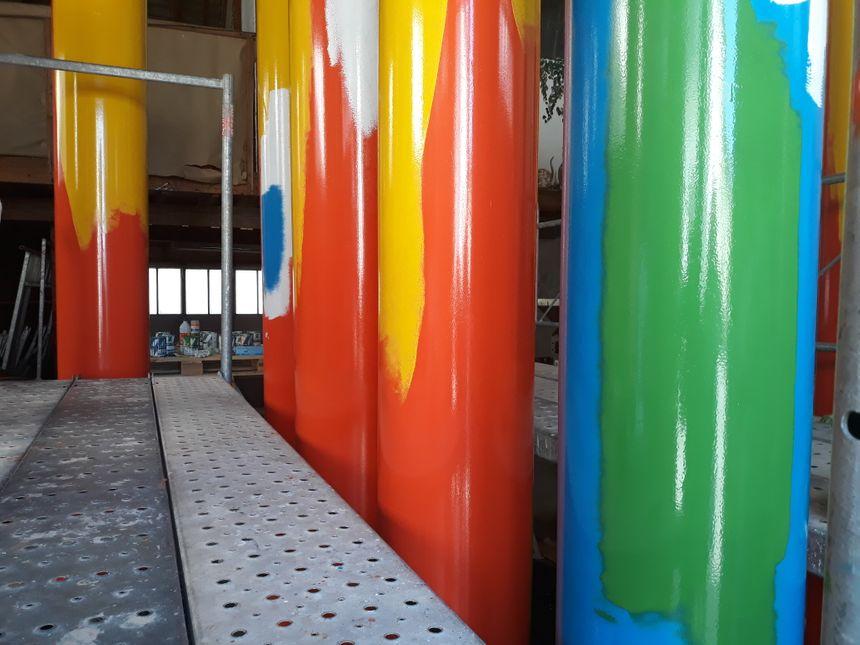 Les colonnes seront présentes six mois par an sur la place où se déroule habituellement la foire de Chénérailles