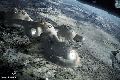 Voici comme l'Agence Européenne de l'Espace imaginait en 2016 à quoi pourrait ressembler une base de vie sur la Lune.