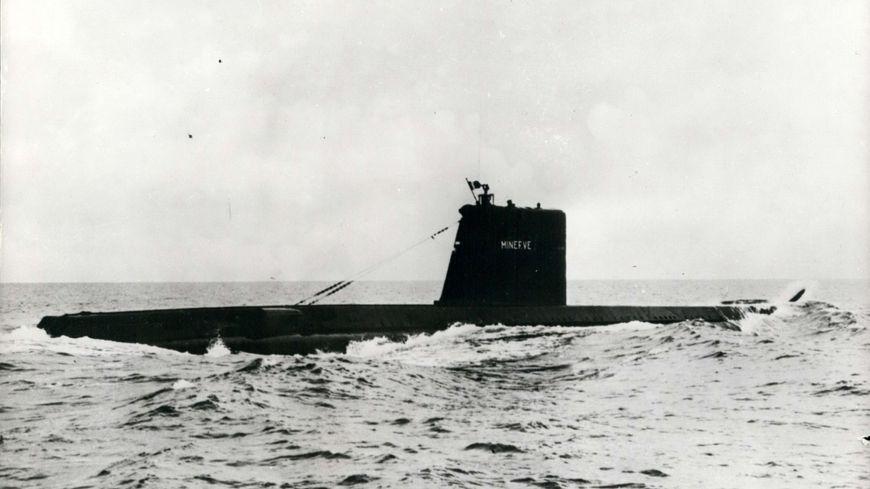 Le sous marin La Minerve qui a coulé en 1968 au large de Toulon