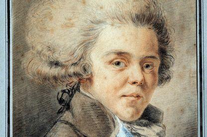 Portrait de Antoine de Rivarol (1753-1801) polémiste et écrivain français. Aquarelle de l'École française, 18e siècle. Versailles, musée Lambinet.