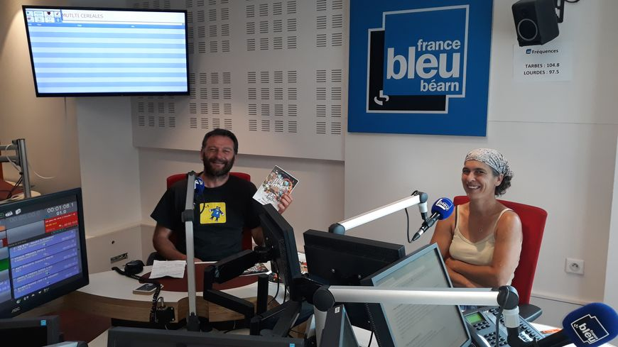 Maxime Bajas et Bénédicte Sainte Cluque dans notre studio.
