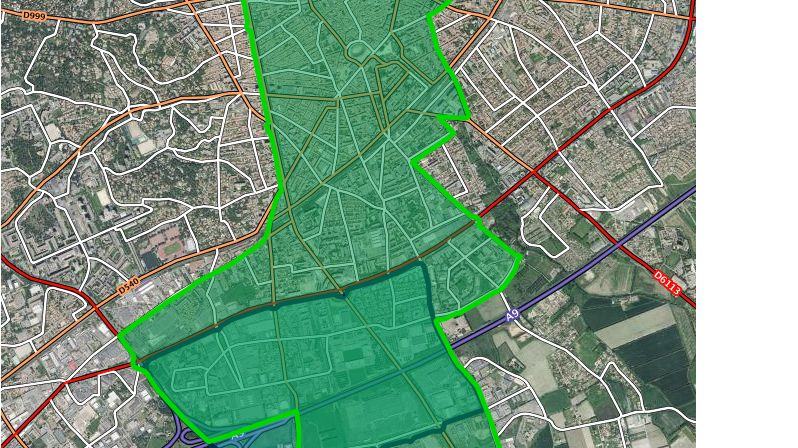 La carte du périmètre interdit aux rassemblements et aux manifestations à Nîmes pendant le Tour de France