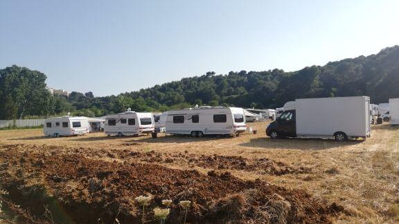Une trentaine de gens du voyage se sont installés à Mougins le 26 juin