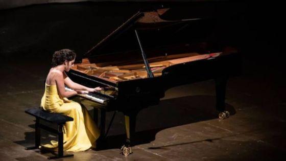 Beatrice Rana au festival de piano de La Roque d'Anthéron. (Juillet 2019)