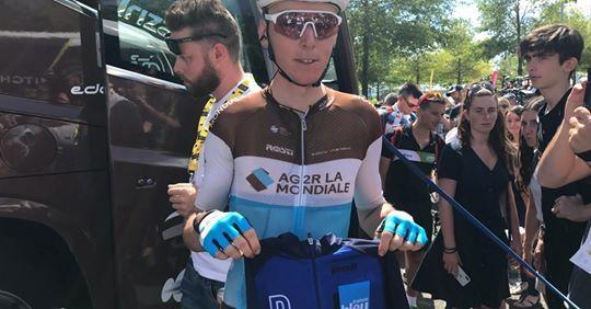Romain Bardet, maillot bleu de cette 10e étape du Tour de France 2019.