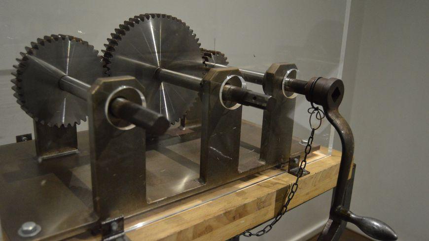 Vue sur un mécanisme de l'exposition
