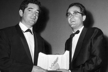 """Palme d'Or pour """"Les Parapluies de Cherbourg"""", Jacques Demy et Michel legrand, 1964"""