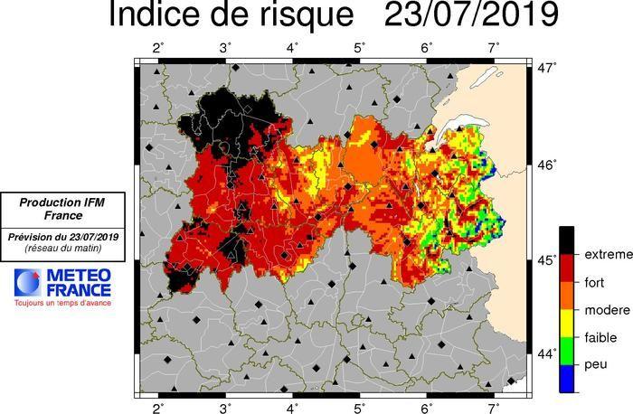 L'Indice Feu Météo pour le département du Puy-de-Dôme