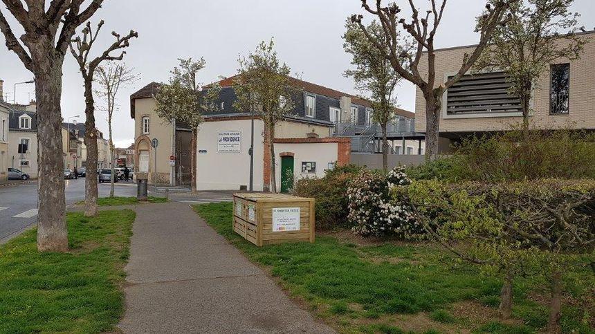 L'un des sites de compostages collectif du Grand Reims