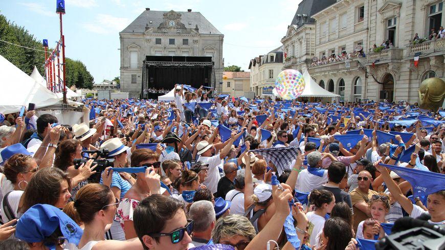 Journée d'ouverture aux Fêtes de la Madeleine à Mont-de-Marsan avec la remise des clés de la ville