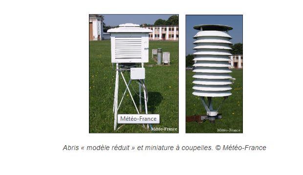"""Météo France mesure la température """"réelle"""" etl'air ambiant dans des abris de ce genre."""