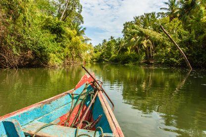 Bateau sur le fleuve Amazone (image d'illustration)