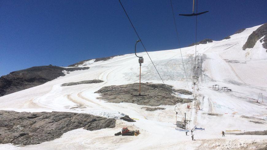 Les pistes du glacier de Tignes en juillet 2018.