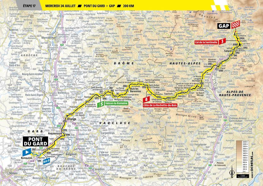 La 17e étape entre Pont du Gard et Gap