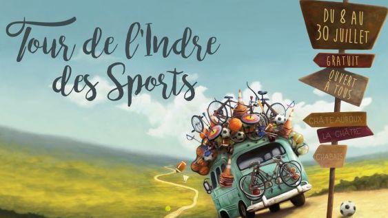 Le Tour de l'Indre des Sports se déroule du 8 au 30 juillet