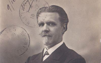 Vincent d'Indy à l'époque de la reprise de Fervaal à l'Opéra de Paris © DR