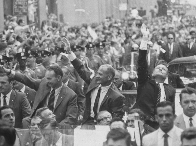 Neil Armstrong, Buzz Aldrin et Michael Collins, 13 août 1969