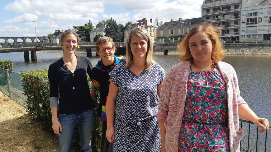 Quatre des cinq artisanes mayennaises qui lancent un financement participatif pour une boutique partagée à Laval