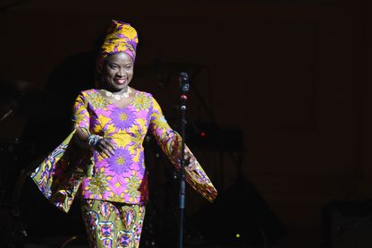 Angélique Kidjo au Carnegie Hall, à New-York, le 7 février 2019 lors d'un concert au bénéfice de la cause tibétaine