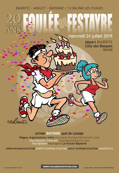 L'affiche de la 20ème édition de la foulée du festayre