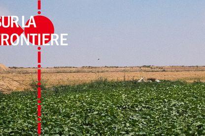 La zone d'accès restreint est large d'1,5 kilomètre. Les agriculteurs voient les postes d'observation et de tir des Israéliens.
