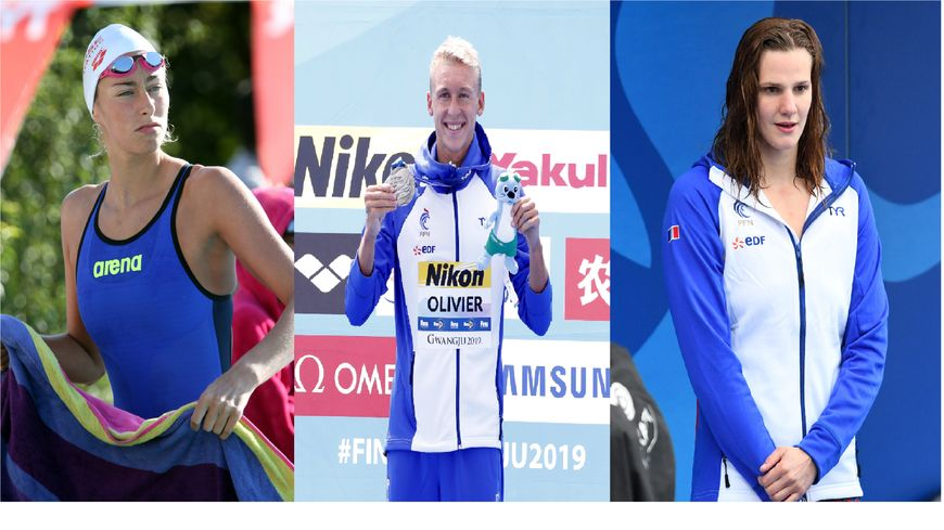 Fantine Lesaffre (à gauche), Marc-Antoine Olivier et Marie Wattel sont les trois représentants de notre région lors des Championnats du Monde de natation de Gwangju et Yeosu (Corée du Sud).
