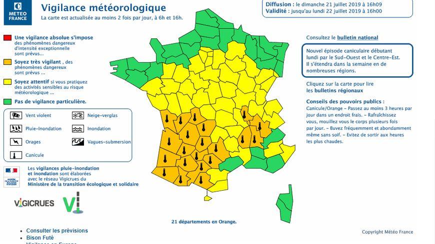 Météo France prévoit des températures allant jusqu'à 40°C ce mardi.
