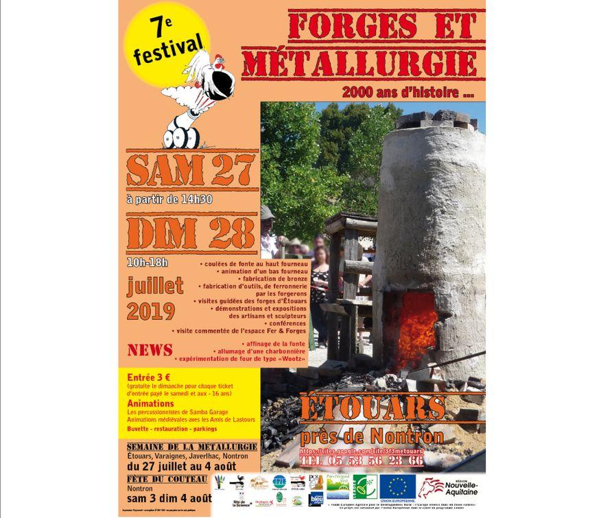 Affiche de la Fête Forges et Métallurgie