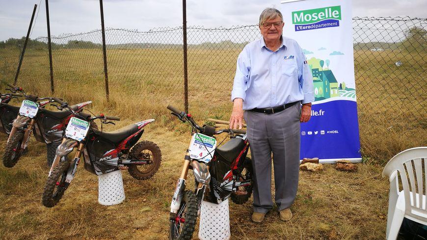 Antoine Julien, le président du comité départemental moto de la Moselle