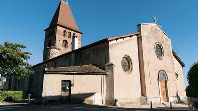 L'église paroissiale de Saint-André fut bâtie entre 1088 et 1102 '(38260 La Côte-Saint-André)