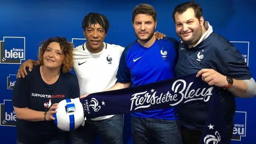"""France Bleu avec les Bleus"" avec Vanessa Lambert, Patrice Loko, Germain Arrigoni et Xavier Monferran"