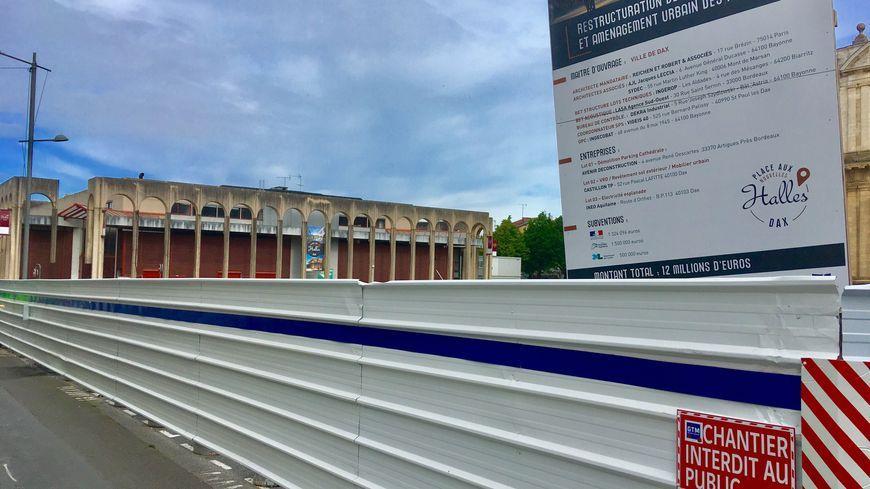 Les halles de Dax sont en cours de rénovation.
