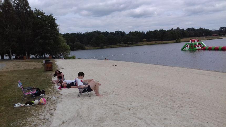 La plage de la Guerlie est quasiment vide