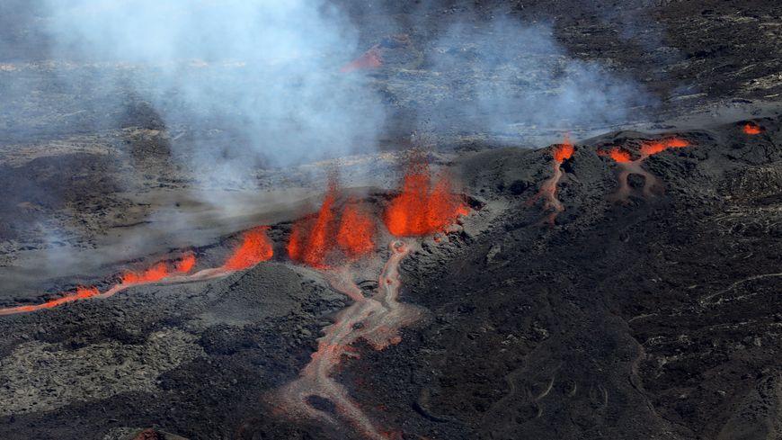 Éruption du Piton de la Fournaise à La Réunion le 15 septembre 2018
