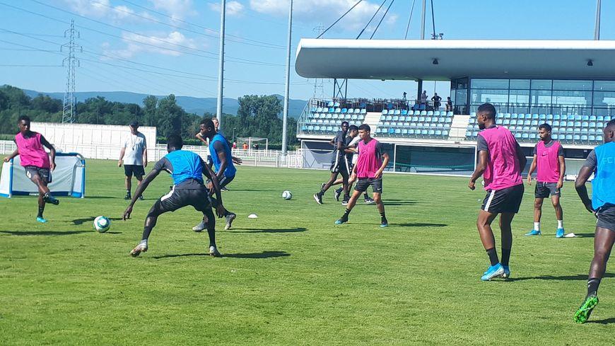 Les joueurs du FC Metz en stage à Molsheim