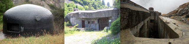 Les ouvrages de Saint-Gobain, du Lavoir et du Pas-du-Roc : ouvrages de la ligne Maginot construits pendant les années 1930 pour interdire l'accès à la moyenne Maurienne