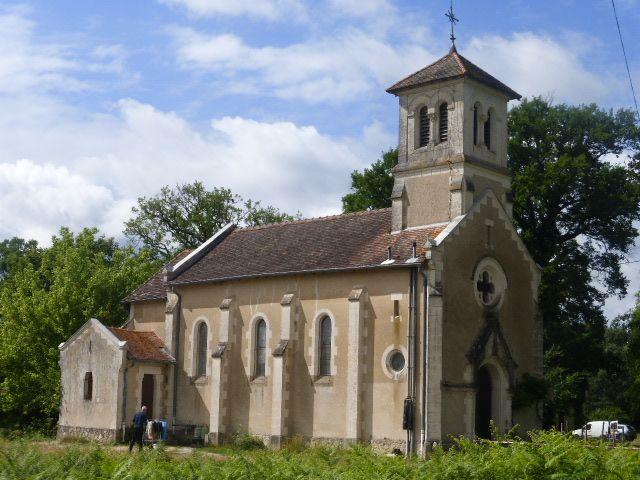 L'église Saint-Louis de Vialotte, à Saint-Gor.