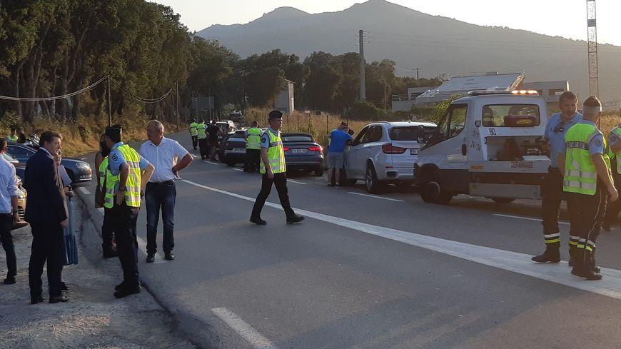 Les gendarmes de Haute-Corse mobilisés pour un contrôle routier.