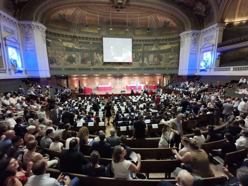 L'amphithéâtre de la Sorbonne lors de la remise des prix du concours général des métiers.
