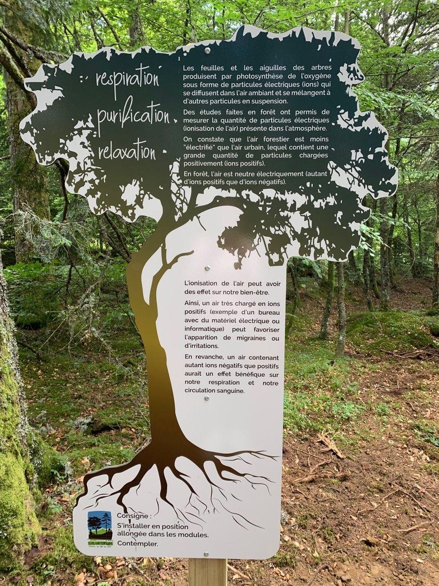 Chaque spa forestier est accompagné d'un panneau explicatif. - Aucun(e)