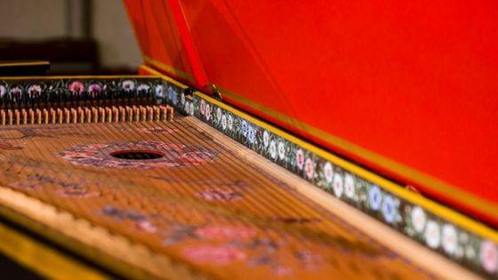 Clavecin - image prise dans le cadre de l'enregistrement des sonates de Scarlatti en Occitanie par France Musique