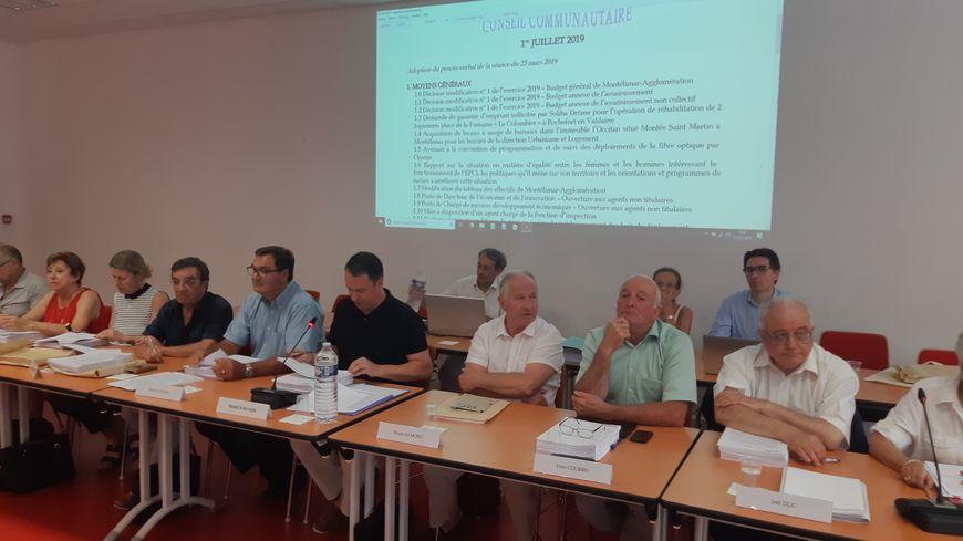Le conseil d'agglomération de Montélimar (Drôme) le 1er juillet 2019